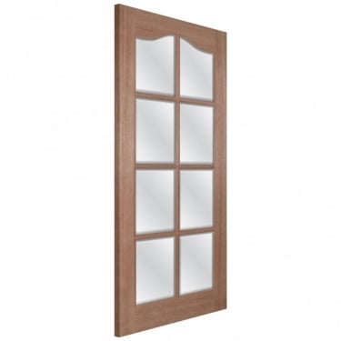 LPD Doors Senator Hamlet Unfinished Internal Hardwood Door with Clear Bevelled Glass
