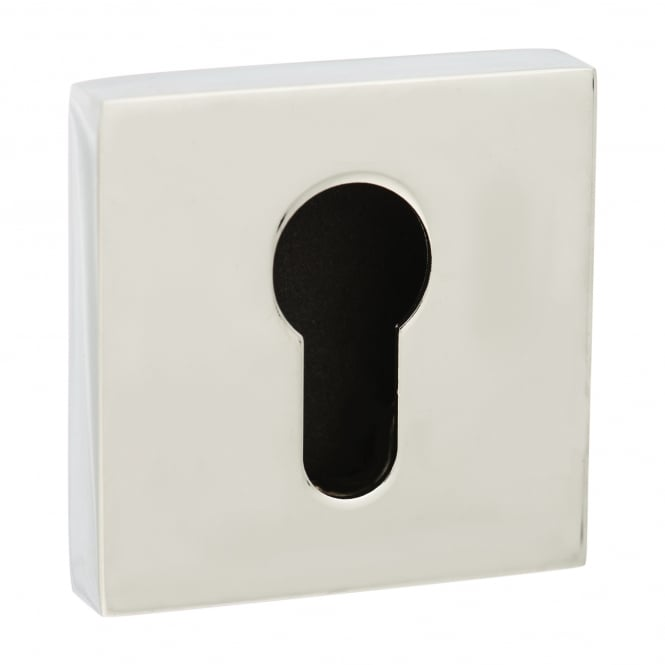 Atlantic Handles Senza Pari Euro Escutcheon On Square Rose - Chrome Plated (SPESCECP)