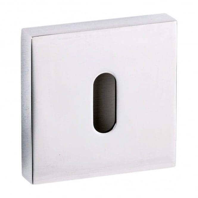 Atlantic Handles Senza Pari Key Escutcheon On Square Rose - Chrome Plated (SPESCKCP)