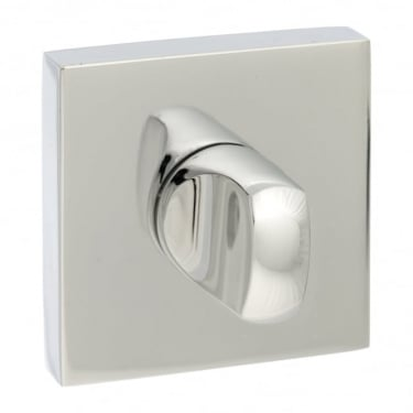 Senza Pari WC Turn and Release On Square Rose - Chrome Plated (SPWCCP)