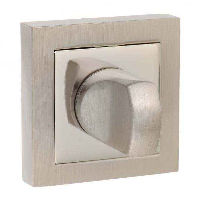 Atlantic Handles Senza Pari WC Turn and Release On Square Rose - Satin Nickel/Nickel Plated (SPCWCSNNP)