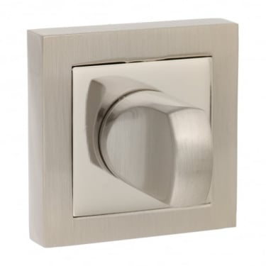 Senza Pari WC Turn and Release On Square Rose - Satin Nickel/Nickel Plated (SPCWCSNNP)