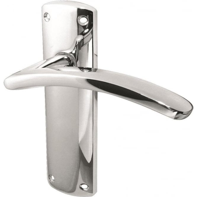 Sicily JV399PC Polished Chrome Lever Latch On Backplate Handle