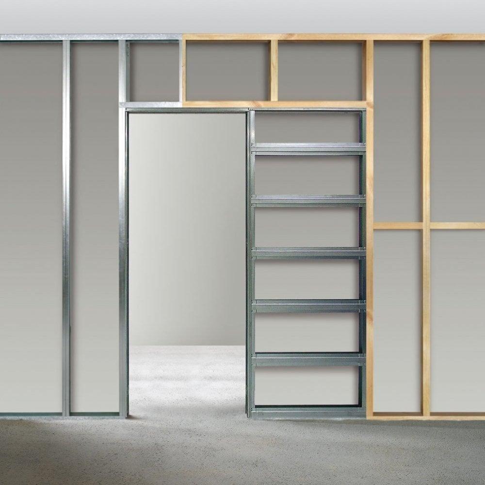 Eclisse sliding single cavity fire door system leader doors for Internal sliding doors systems