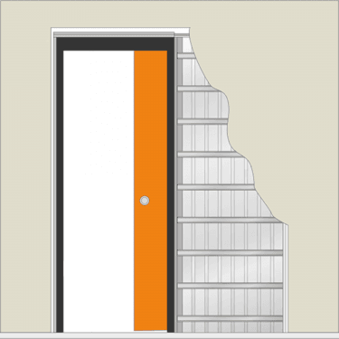 Sliding Single Pocket Door System for 1981x686mm(78''x27'') Doors