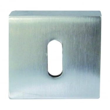 Standard Satin Chrome Square Key Escutcheon (JV4005SC)