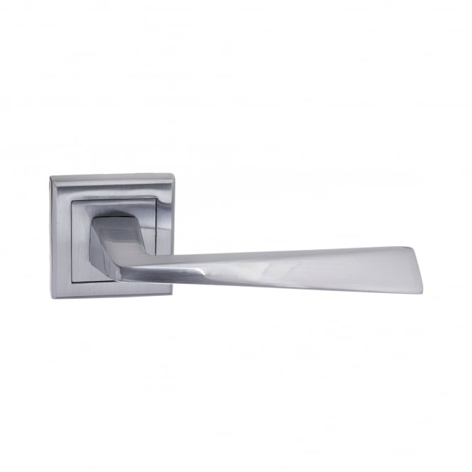 Atlantic Handles Status California Lever On Square Rose - Satin Chrome (S23SSC)