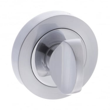 Status WC Turn and Release On Round Rose - Satin Chrome/Polished Chrome (S3WCRSCPC)