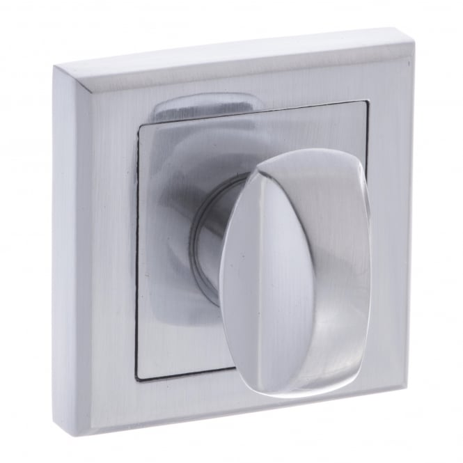 Atlantic Handles Status WC Turn and Release On Square Rose - Satin Chrome (S2WCSSC)