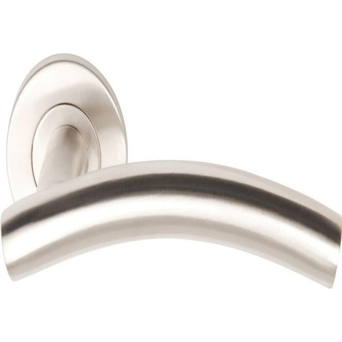 Dale Hardware T Bar 3725A Satin Stainless Steel Arched Lever On Rose Handle