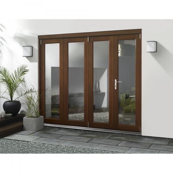 54 elite external pre finished hardwood folding sliding for Hardwood patio doors