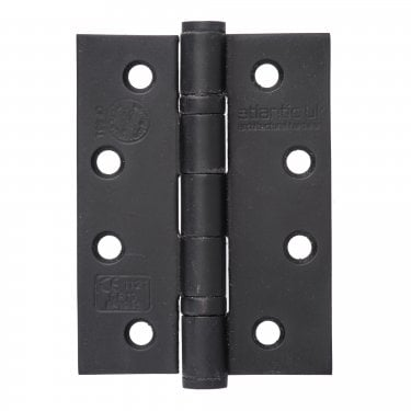 Universal 102mm (4'') Fire Rated Ball Bearing Hinge Pair - Matt Black (AH1433MB)