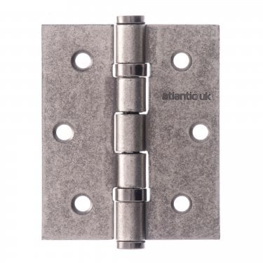 Universal 76mm (3'') Ball Bearing Hinge Pair - Distressed Silver (A2HB32525DS)