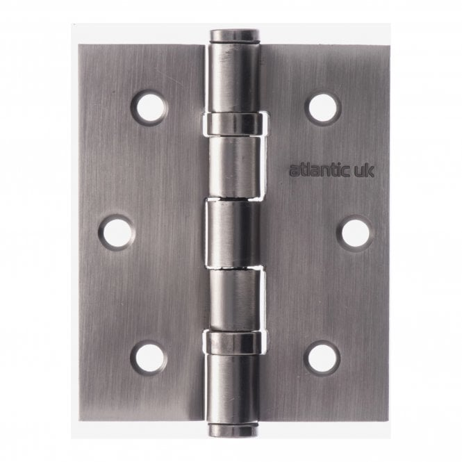 Atlantic Handles Universal 76mm (3'') Ball Bearing Hinge Pair - Matt Gun Metal (A2HB32525MBN)
