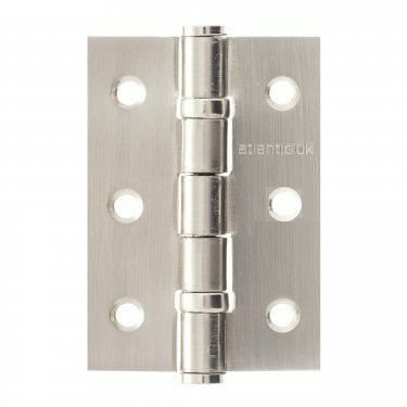 Universal 76mm (3'') Ball Bearing Hinge Pair - Satin Stainless Steel (A2H322/SSS)
