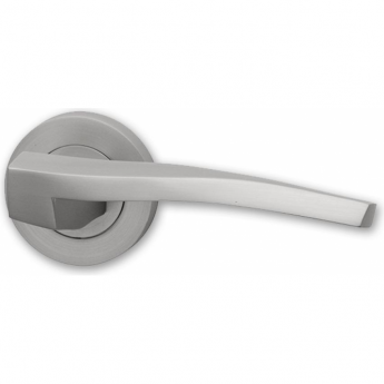 Intelligent Hardware Vitro Satin Chrome Lever On Round Rose