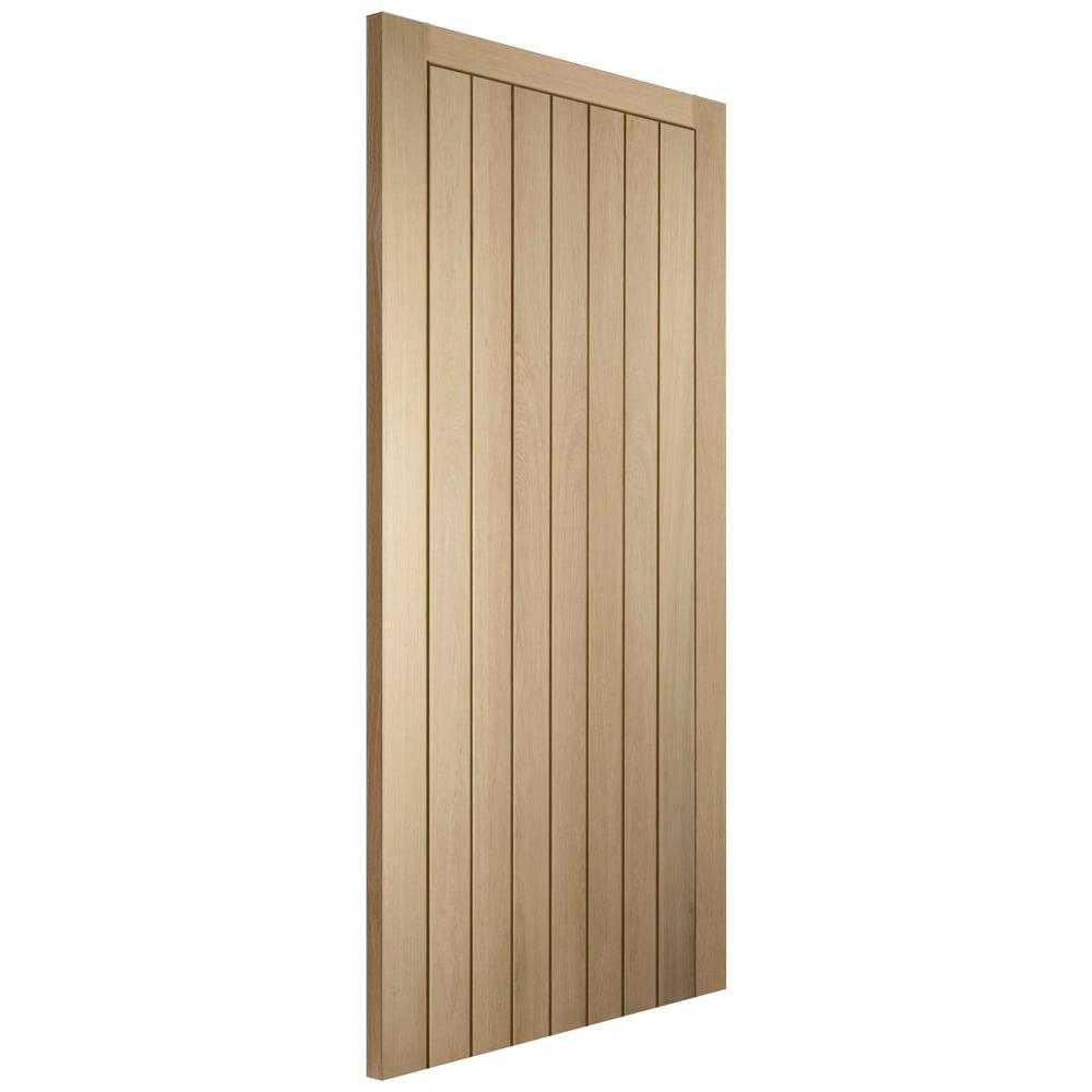 Wooddoor Cottage Oak Un Finished Panelled Internal Door