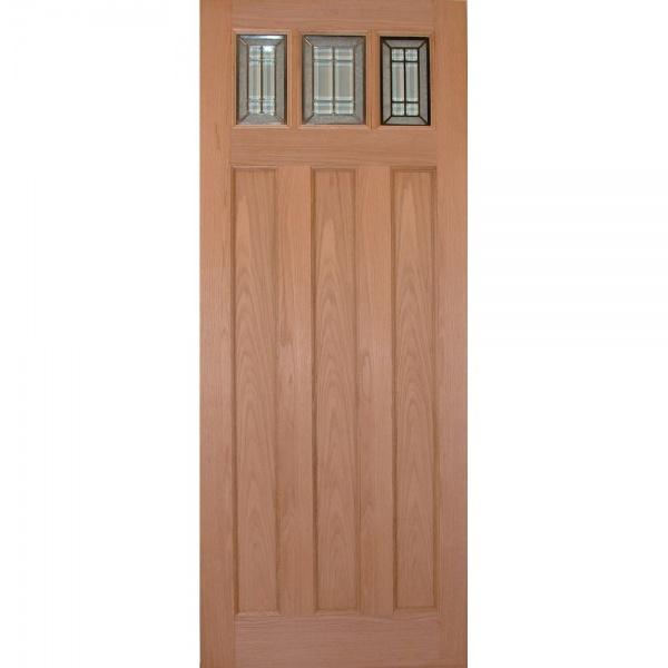 Wooddoor external oak balmoral jade triple glazed door for Triple glazed doors