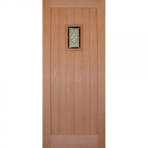 Wooddoor external oak chancery onyx triple glazed door for Triple glazed doors