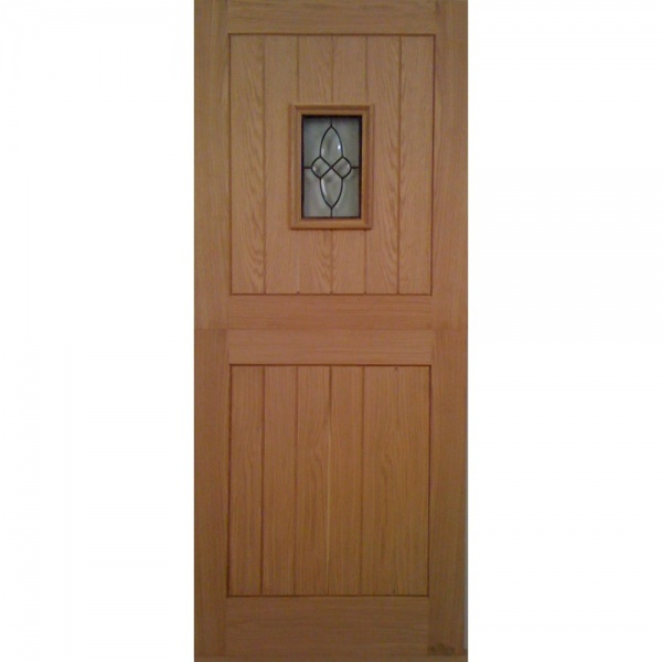 Wooddoor external oak chancery stable triple glazed door for Triple glazed doors