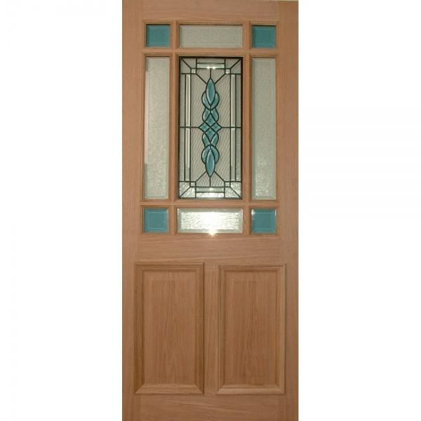 Wooddoor external oak warwick topaz triple glazed door for Triple glazed doors