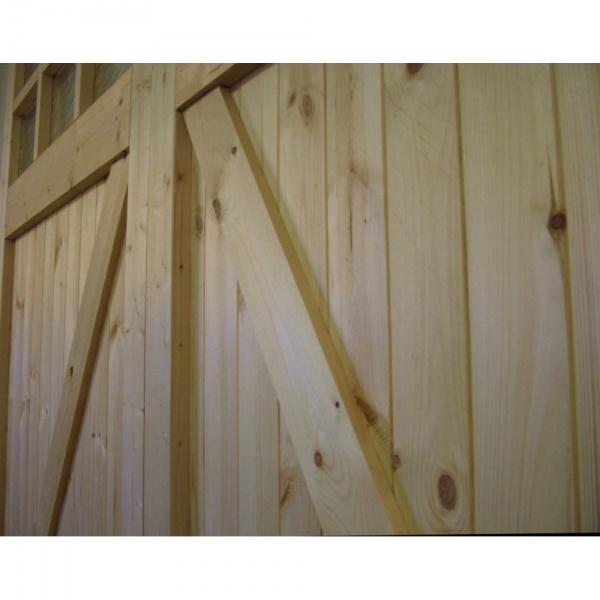WoodDoor External Timber Side Opening Obscure Glazed Garage Door WoodDoor