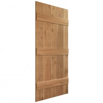 WoodDoor+ Grange Internal Solid Rustic Grade Oak Ledged Door