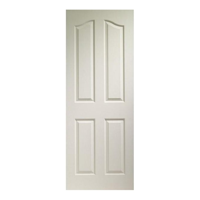Internal 4 Panel Arch Top White Moulded Door