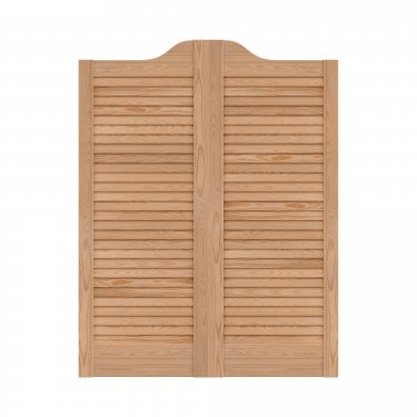 Internal Clear Pine Cafe Style Ranch Louvre Door Pair