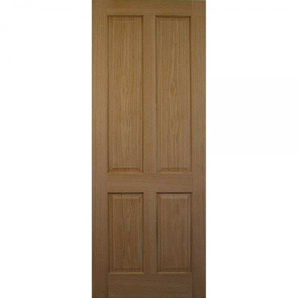 Internal Victorian Style Oak 4 Panel Door IN STOCK FOR NEXT DAY DELIVERY