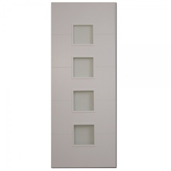 Pre painted white glazed interior doors view 4 panel pre painted white woodgrain glazed - Finished white interior doors ...
