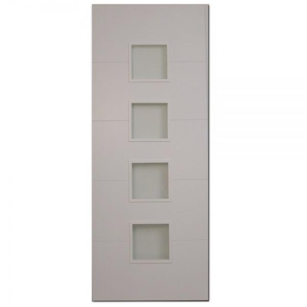 white pre finished clear glazed door wooddoor from leader doors uk. Black Bedroom Furniture Sets. Home Design Ideas