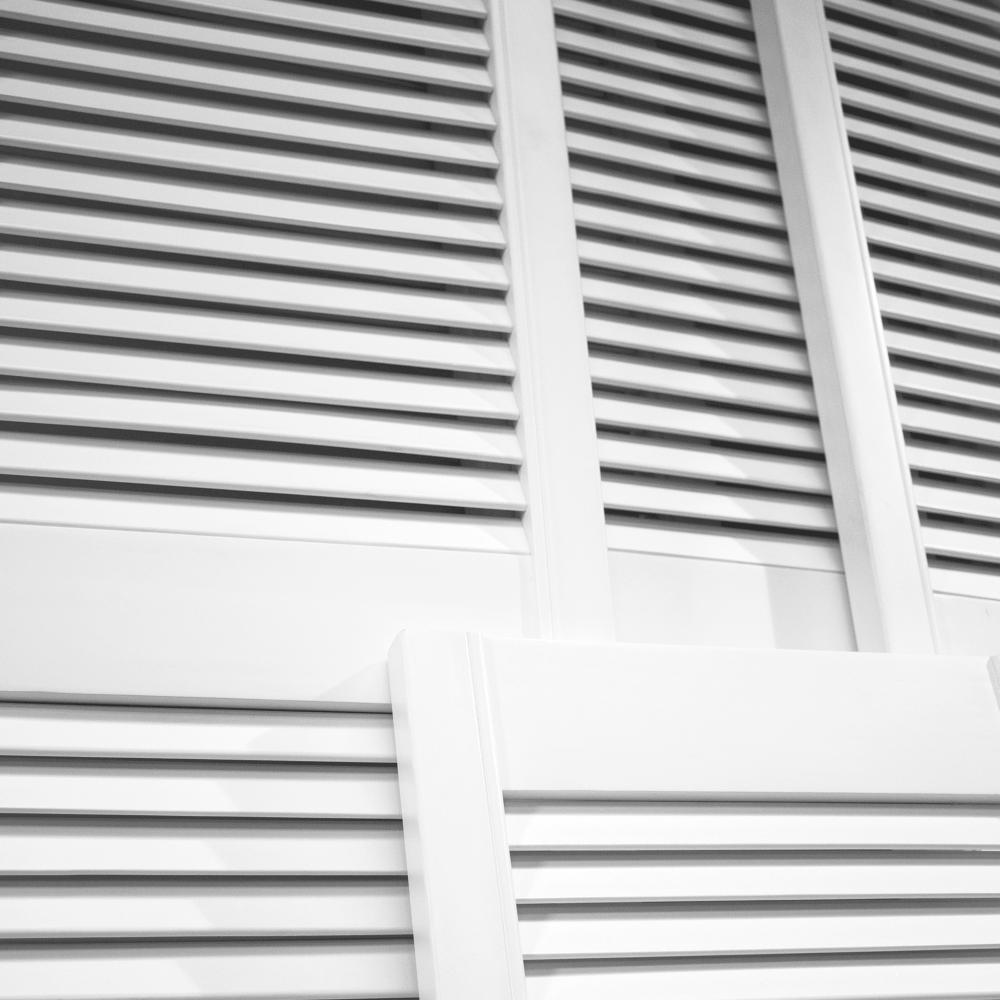 White Painted Open Louvre Door  sc 1 st  Leader Doors & White Painted Open Louvre Door