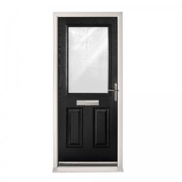Extermal Black 2XG Pre-Hung Composite Door Set with Obscure Glass (CDSXG-CDSBLACK)