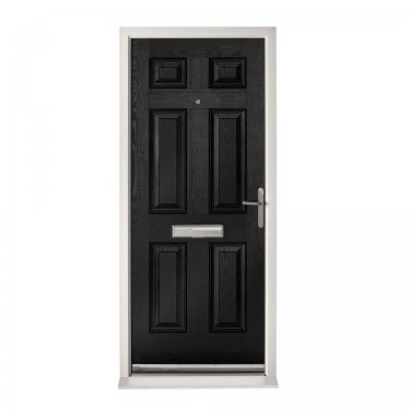 Extermal Black Colonial Pre-Hung Composite Door Set (CDSCOL-CDSBLACK)