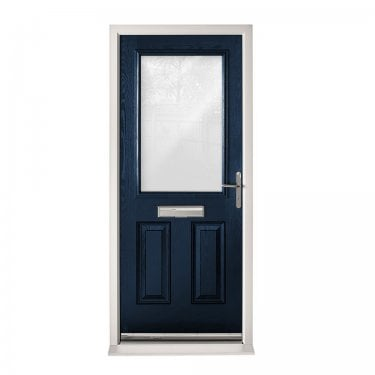 Extermal Blue 2XG Pre-Hung Composite Door Set with Clear Glass (CDSXGCLR-CDSBLUE)