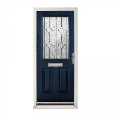 Extermal Blue 2XG Pre-Hung Composite Door Set with Decorative Glass (CDSXGDEC-CDSBLUE)