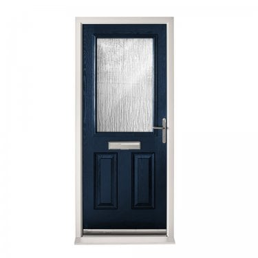 Extermal Blue 2XG Pre-Hung Composite Door Set with Obscure Glass (CDSXG-CDSBLUE)