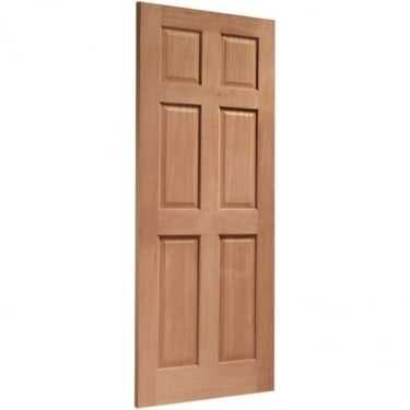 External Hardwood Un-finished Colonial 6 Panel Door(MORTICE & TENON)