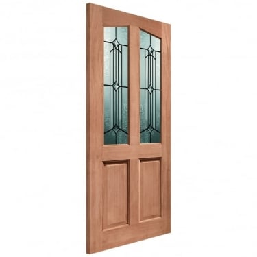 External Hardwood Unfinished Richmond 2L Door with Double Glazed Donne Glass (Mortice & Tenon)