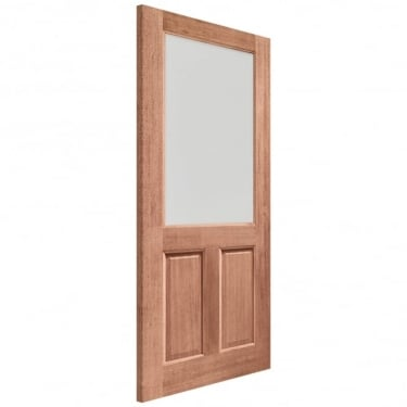 External Hardwood Unfinished 2XG 1L Door with Clear Glass (Dowelled)