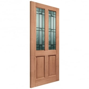 External Hardwood Unfinished Malton 2L Door with Double Glazed Drydon Glass (Mortice & Tenon)