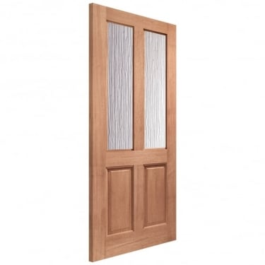 External Hardwood Unfinished Malton 2L Door with Obscure Glass (Mortice & Tenon)