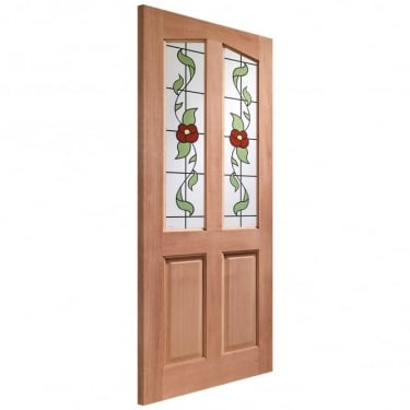 External Hardwood Unfinished Richmond 2L Door with Keats Glass (Dowelled)