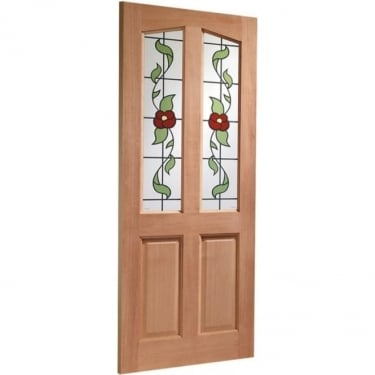 External Hardwood Unfinished Richmond 2L Door with Keats Glass (Mortice & Tenon)