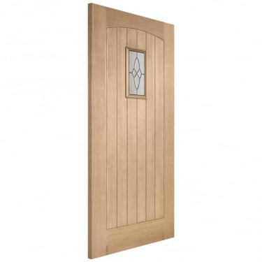 External Oak Triple Glazed Cottage Door With Black Caming