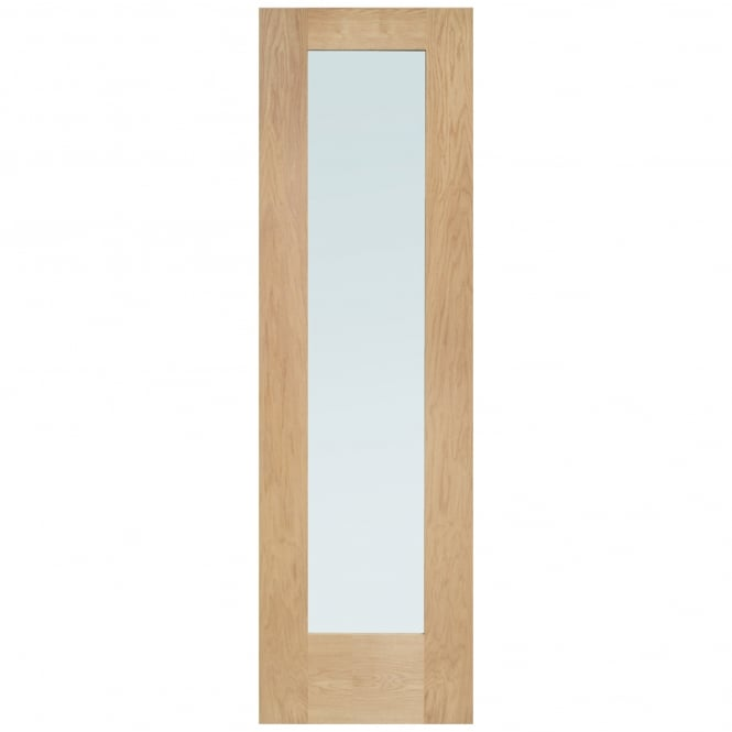 XL Joinery External Oak Un-finished Pattern 10 Sidelight with Obscure Glass