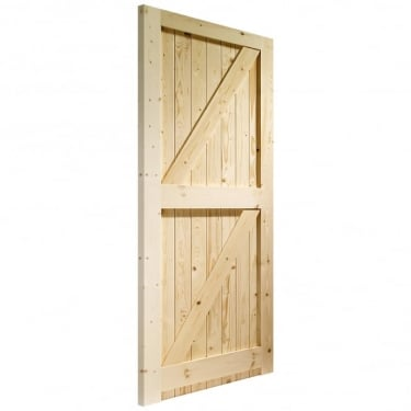 External Pine Un-finished Framed Ledged and Braced Gate