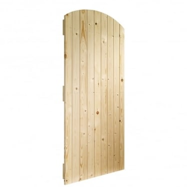 External Pine Unfinished Arch Top Gate