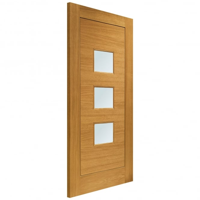 XL Joinery External Pre-Finished Oak Turin Door with Obscure Glass